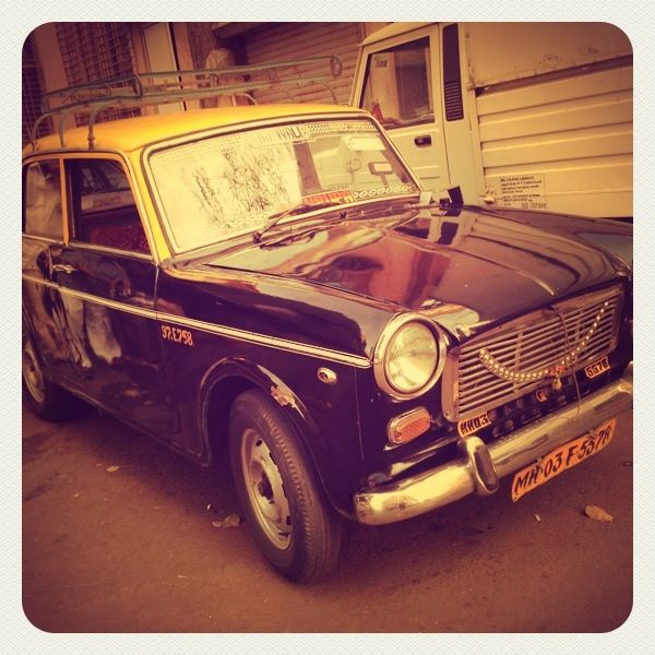 Premium Padmini taxi going off road in bombay…will surely miss them