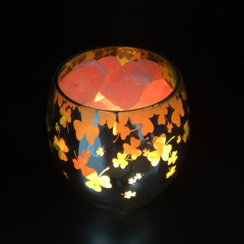 Glass Jar Lamp - Clover