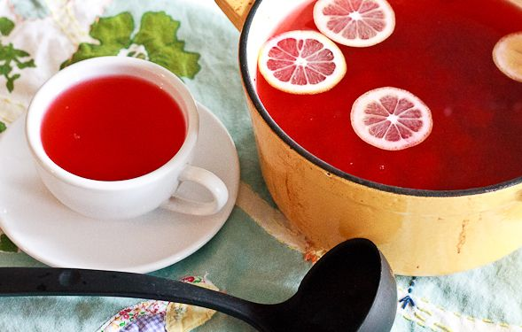 This tea helps the thyroid perform better. This tea is delicious! It helps your thyroid work better, give it a try! RECIPE: – 1 cup unsweetened 100% cranberry juice – 7 cups purified water – 1/2 tsp ground cinnamon – 1/4 tsp ground ginger – 1/4 tsp ground nutmeg – 3/4 Cup fresh squeezed orange juice (approx 3 oranges) – 1/4 Cup fresh squeezed lemon juice (approx1-2 lemons) DIRECTIONS: Bring water to a boil; add cranberry juice, reduce heat to low Add cinnamon, ginger, & nutmeg, stir and let…