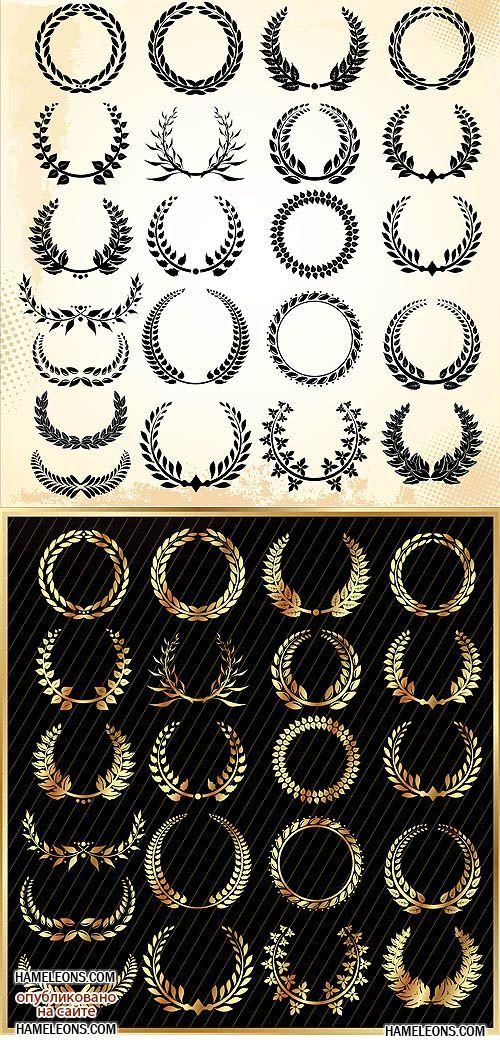 Лавровый венок - векторный клипарт | Laurel wreath vector