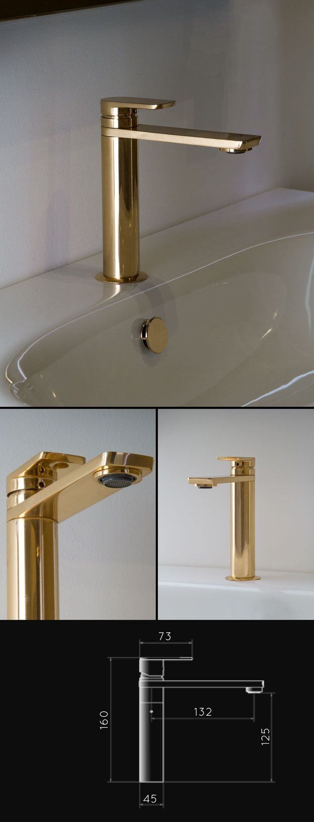 Contemporary bathroom taps uk - Uk Suppliers Of Gold Bathroom Taps In Latest Contemporary European Styling These Gold Taps Are A Lovely Design Alternative To Chrome Stainless Steel