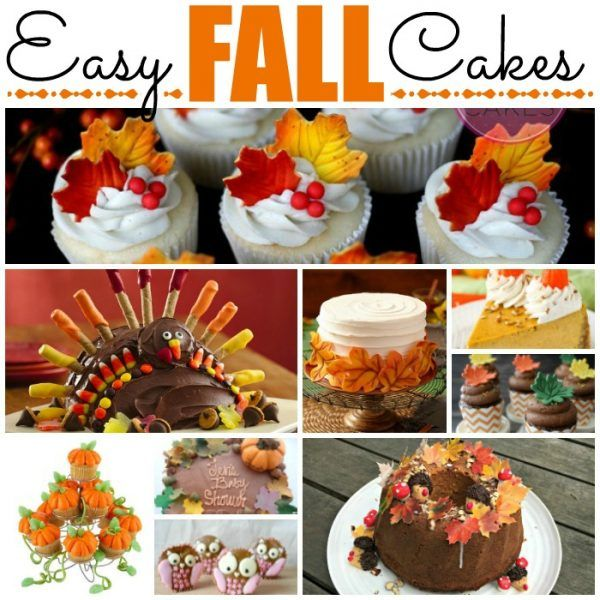 Easy Fall Cake Decorating Ideas Fall Cakes Cake Decorating For