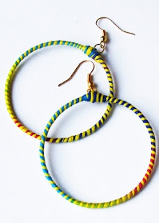 how to make hoop earrings with memory wire
