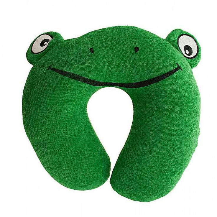 Terry Frog Travel Pillow