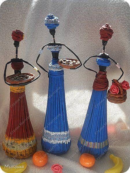 Поделка изделие Плетение Африканочки мои  +мой вариант юбки  Трубочки бумажные фото 1