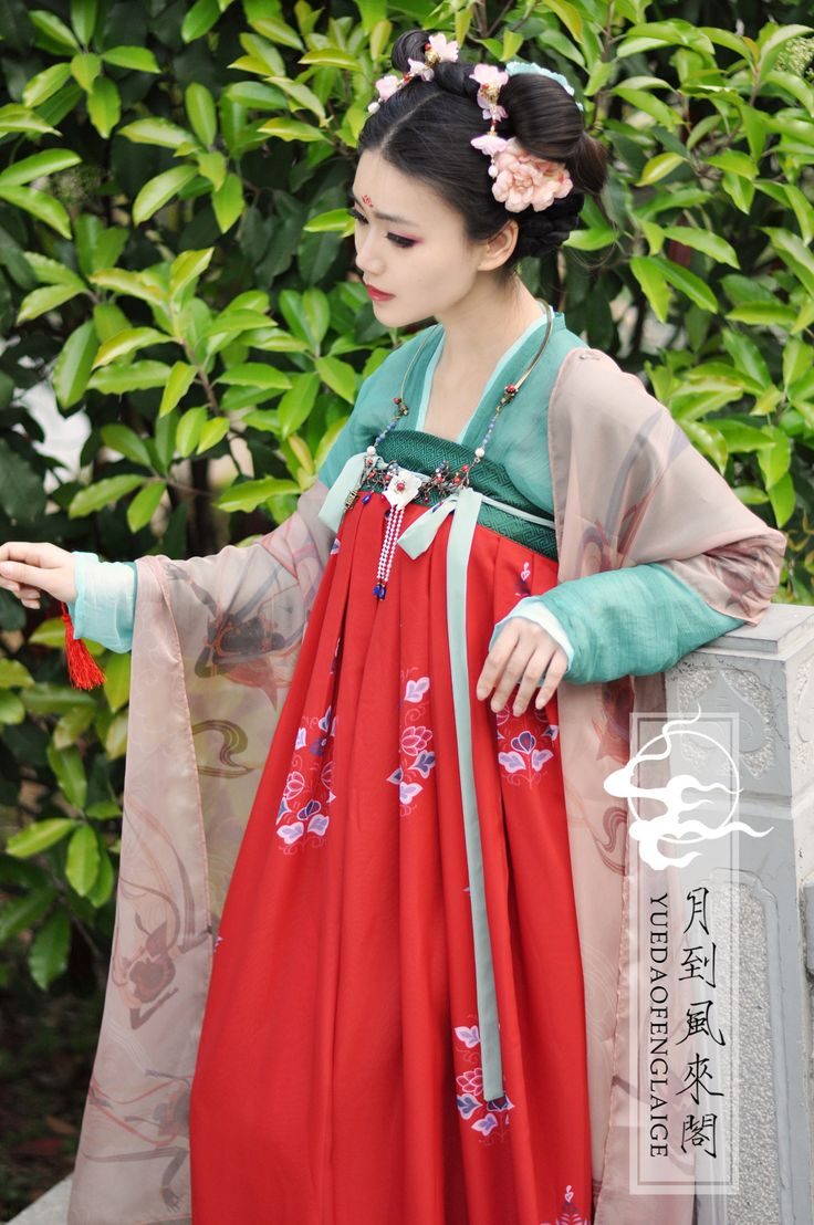 Hanfu: traditional Chinese costume.This one is a Tang Dynasty Hanfu Ruqun