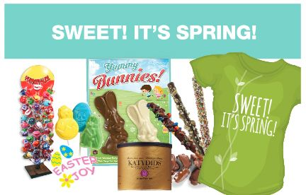 """Looking for a fun Spring-inspired theme for your next fundraiser? Here's a selection of products that will scream """"SWEET! IT'S SPRING!"""" #spring #fundraisers #fundraising #schoolfundraising #nonprofitfundrasing #teamfundraising #lollipops #easter #chocolatebunnies #katydids"""