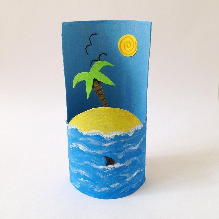 Another little tubescape idea... made from an ordinary cardboard tube. More over