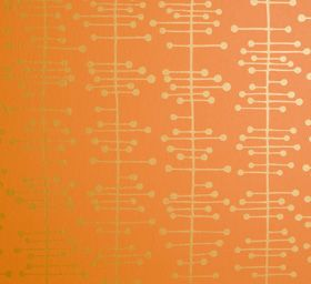 Wednesday walls - Miss Print orange wallpaper