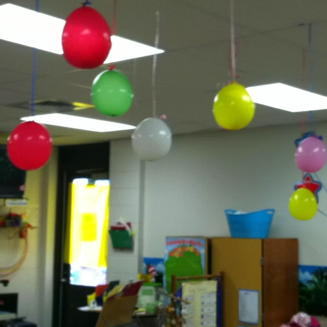 Ten day countdown to summer.  Fill the balloons with fun activities.  Pop one each afternoon and the prize falls out! Extra centers, no shoes in class, ice cream party, picnic. Pizza party, bubble party, sit where you want in the room, sit with a friend at lunch!