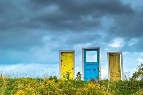 Beautiful PortalsOpen, Favorite Places, Outdoor Art Installations, Nicole Evans, Doors Installations, Nova Scotia, Surrealism Doors, Doors Numbers, Pat Farrell