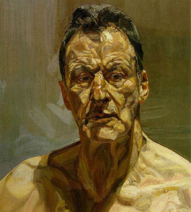 Lucian Freud - Reflection (Self-Portrait), 1985, oil on canvas