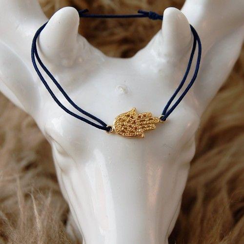D-Zijns satin bracelets with sterling silver hand of Fatima www.d-zijns.com
