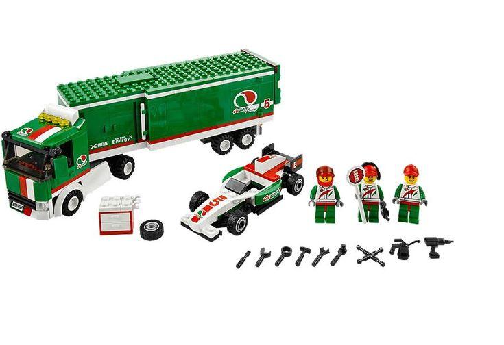 LEGO City Grand Prix Truck w/ Race Car | Lego city, Lego ...