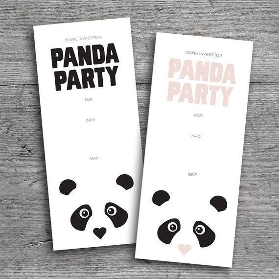 PANDA PARTY INVITATION // Birthday Party by flutterflutterstudio