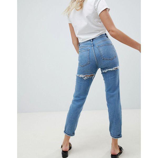 Farleigh Schmale Mom Jeans von ASOS DESIGN, hoher Sitz