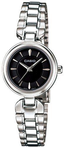 Casio Women's LTP1353D-1A Silver Stainless-Steel Quartz Watch with Black Dial Casio. $63.71. Mineral Crystal. 29mm Case Diameter. 30 Meters / 100 Feet / 3 ATM Water Resistant. Quartz Movement