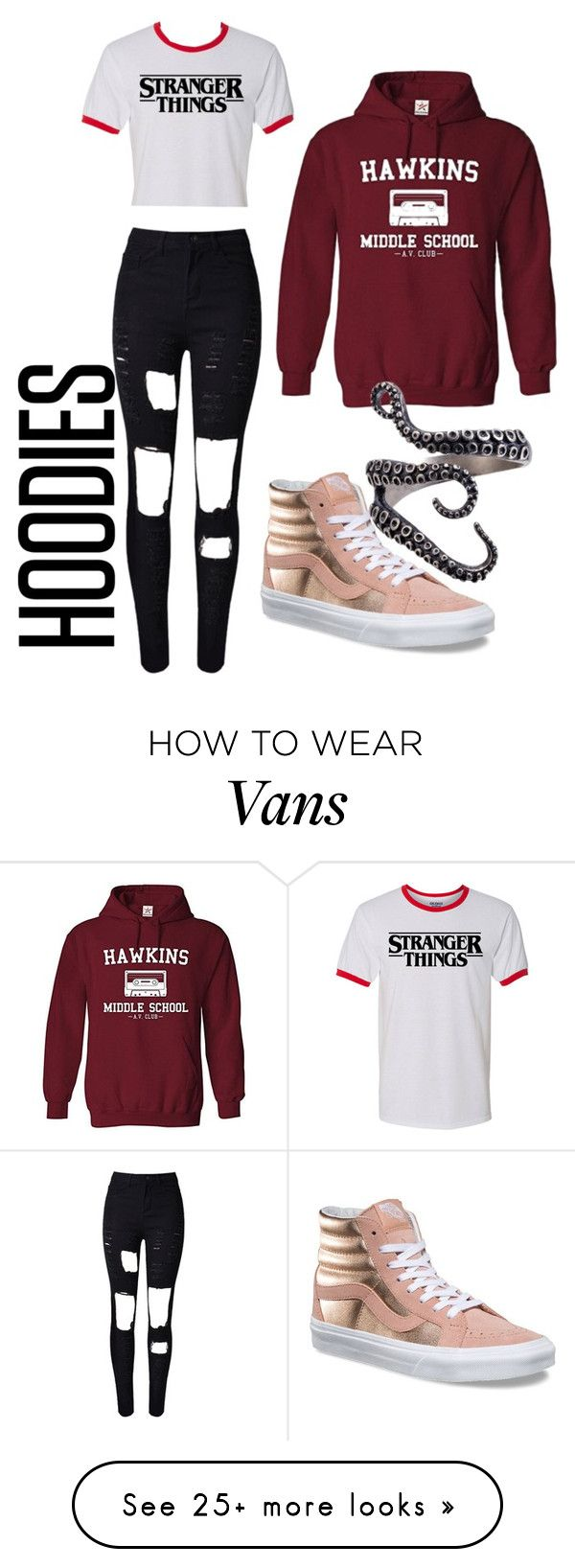 """""""Untitled #122"""" by abbiesanders on Polyvore featuring WithChic, Vans and Hoodies"""
