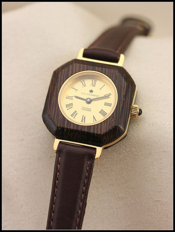 Square watch Women watches gold Square brown by HUMBERTcreations