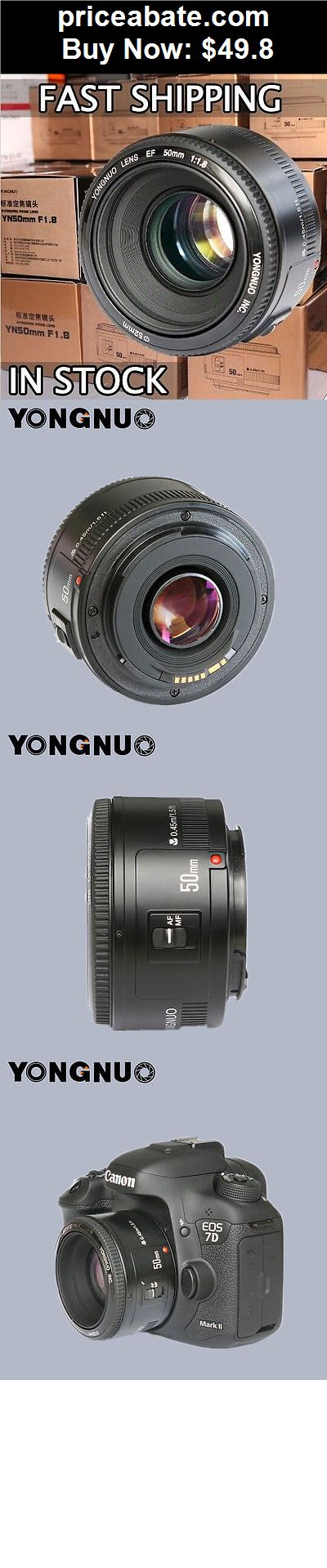 Camera-And-Photo: Yongnuo YN50mm F/1.8 Standard Prime Lens for Canon EOS Rebel Camera ,AF/MF - BUY IT NOW ONLY $49.8