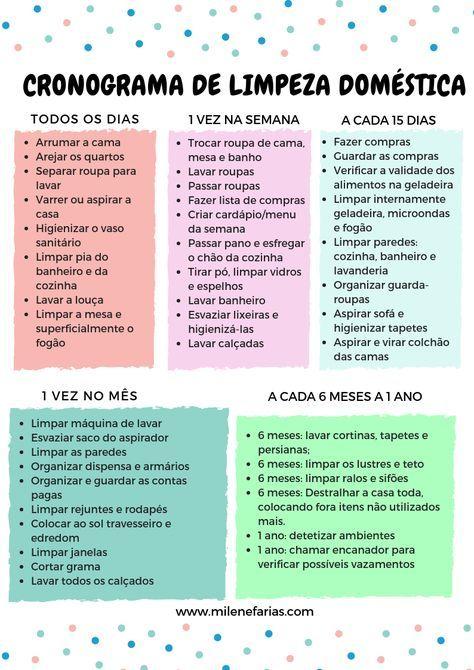 9a0b5c197 Como se organizar em 2019 - Milene Farias|Estante da Mi Limpeza Semanal,  Rotinas