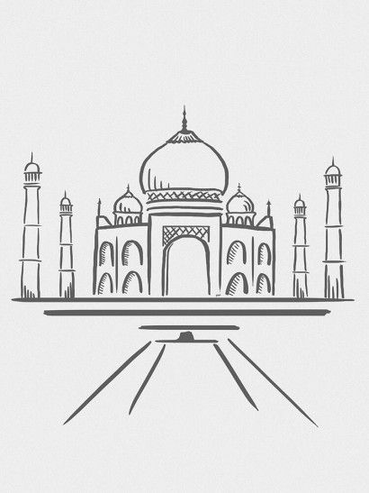 Taj Mahal Minimalista - On The Wall | Crie seu quadro com essa imagem https://www.onthewall.com.br/design-by-on-the-wall/minimalista/taj-mahal-minimalista #quadro #canvas #moldura #decor #india #minimalista