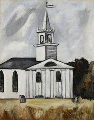 Church at Lead Tide by Marsden Hartley