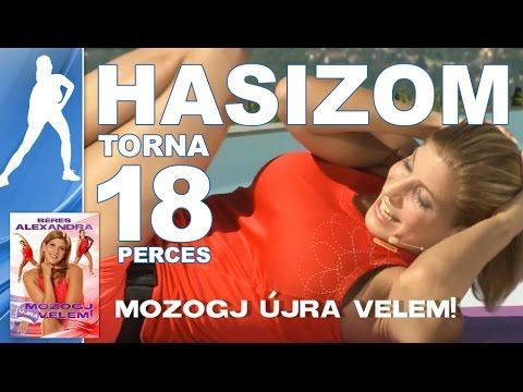 Béres Alexandra - Mozogj újra velem DVD || Hasizom erősítése || 18 p