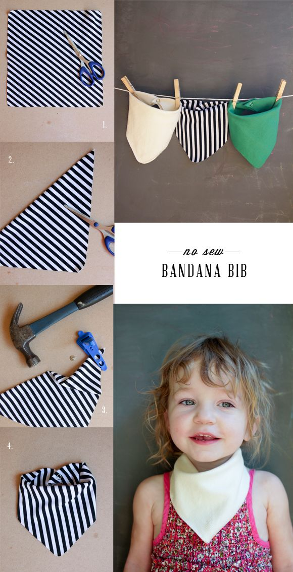 DIY No Sew Bandana Bib | Dotcoms for Moms