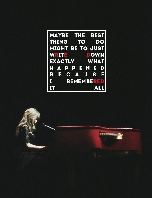 all too well- Taylor Swift RED tour quotes | Lyrics ...