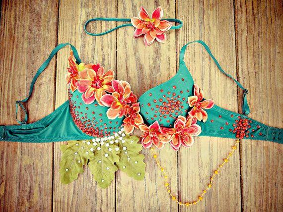 Tropical Island Goddess Rave Bra