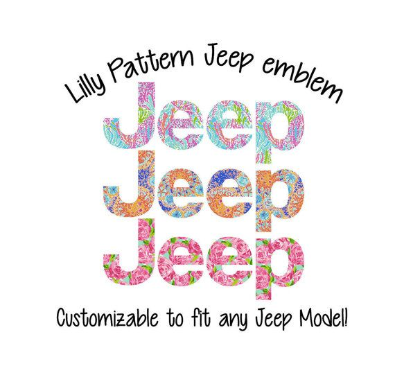 Jeep Lilly Emblem Cover Decal