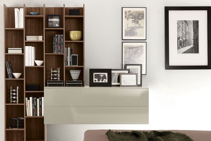 Bibliothèque - bois - meuble laqué- rangement - bureau - livre Design Fimes