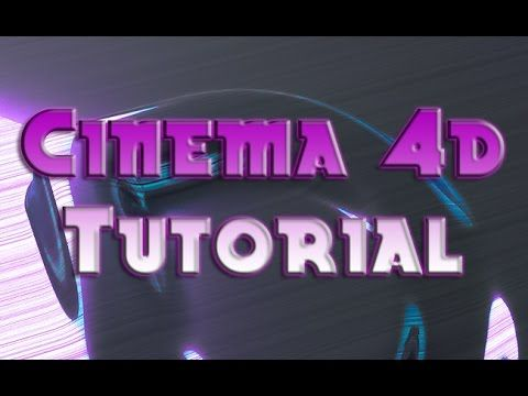 TUTORIAL for CINEMA 4D - How to make an Optical Letter