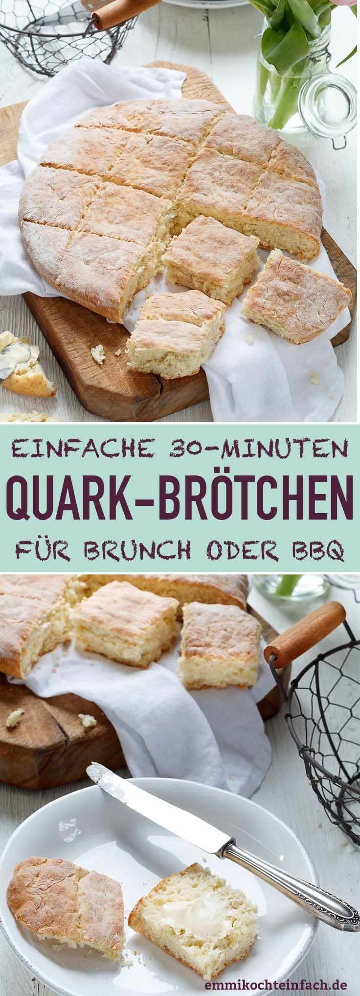 Schnelle und einfache Quarkbrötchen