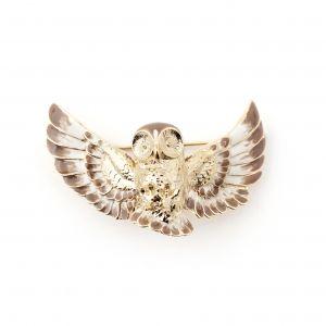 Flying Owl Brooch