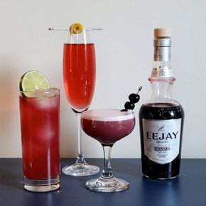 3 COCKTAILS WITH CREME DE CASSIS (black currant liquor)