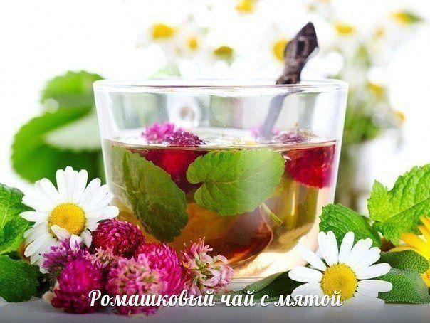 Ромашковый чай с мятой.
