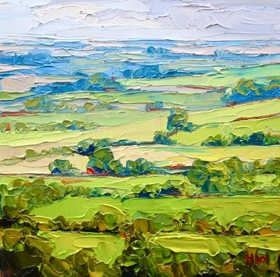 There is such life in this painting, the use of impasto has given it a 3D effect and the colours are so clear and alive...♥♥♥...h.w. dixon