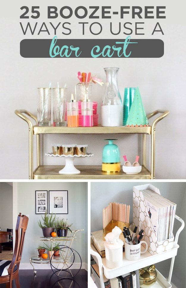 25 Booze Free Ways To Use A Bar Cart