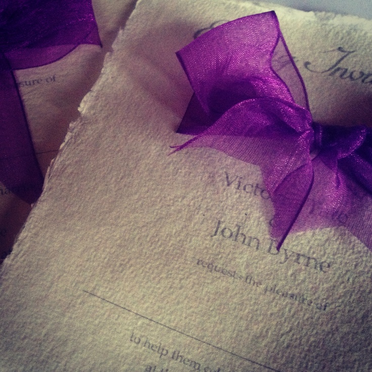 Handmade Wedding Invitation...Pink Beauty