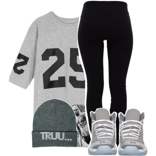 Untitled #656 created by ayline-somindless4rayray on Polyvore leggings tights oversized t shirt ...