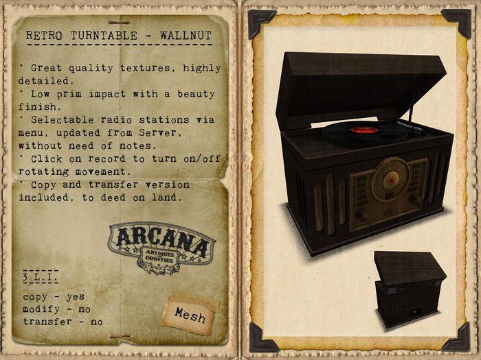 {A} Retro Turntable - Walnut