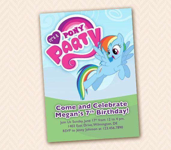 Rainbow Dash mio invito festa festa di compleanno di Little Pony