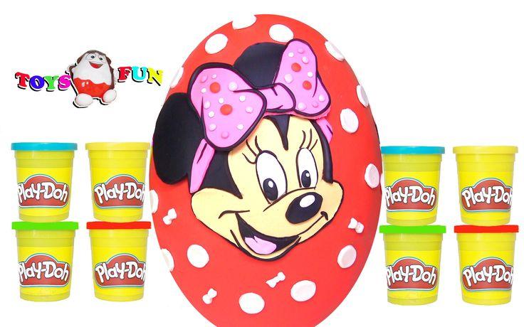 Minnie Mouse Play Doh Dev Sürpriz Yumurta - Miki Fare araba, kung fu pan...