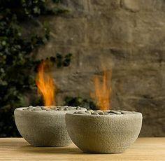 DIY concrete fire bowls