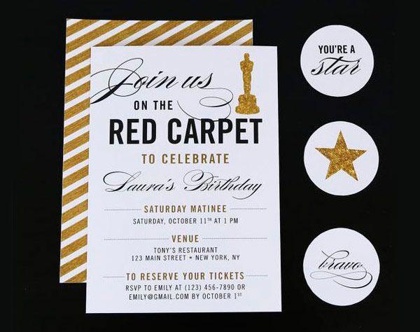 10 Convites Inspirados Em Hollywood Para A Festa De 15 Anos   Constance  Zahn. Einladung ...