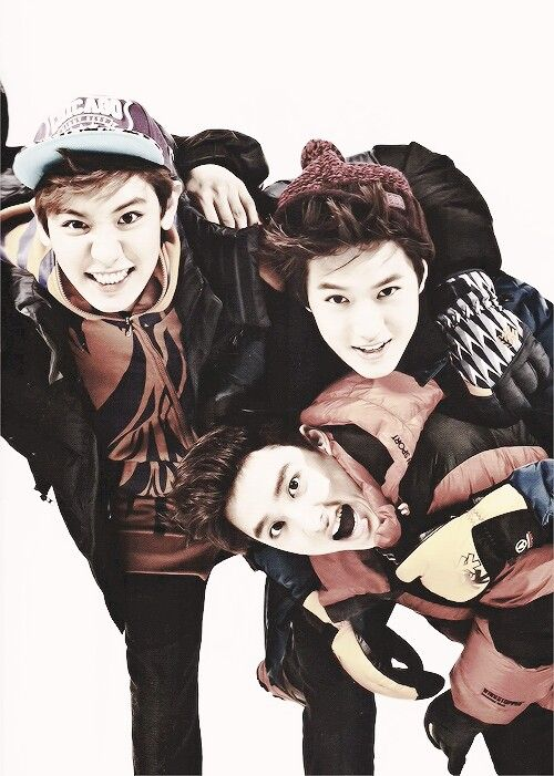 Chanyeol, Suho and D.o for kolon sports | OH MY GOD!! They look so adorable!!!!!!~