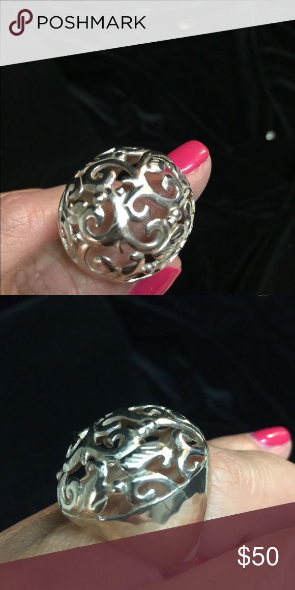 Silpada Designs sterling Silver Ring Silpada sterling silver filigree ring.  Size 8 Silpada Jewelry Rings