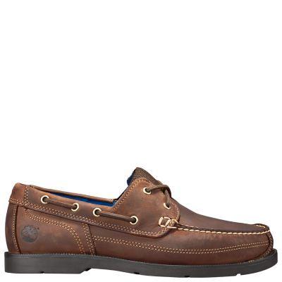 Timberland Men's Piper Cove Boat Shoes Medium Brown Full-Grain